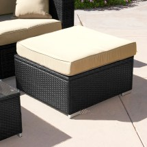 Rattan Outdoor Chairs with Ottomans