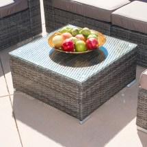 7pc Outdoor Patio Rattan Wicker Furniture Aluminum