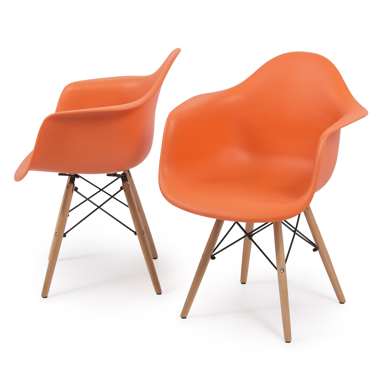 eames leather chair dining lounge with canopy canada new set of 2 dsw mid century arm