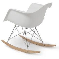 White Indoor Rocking Chair Hanging Wicker Egg Canada New Eames Rocker Wood Rar Dsw Style