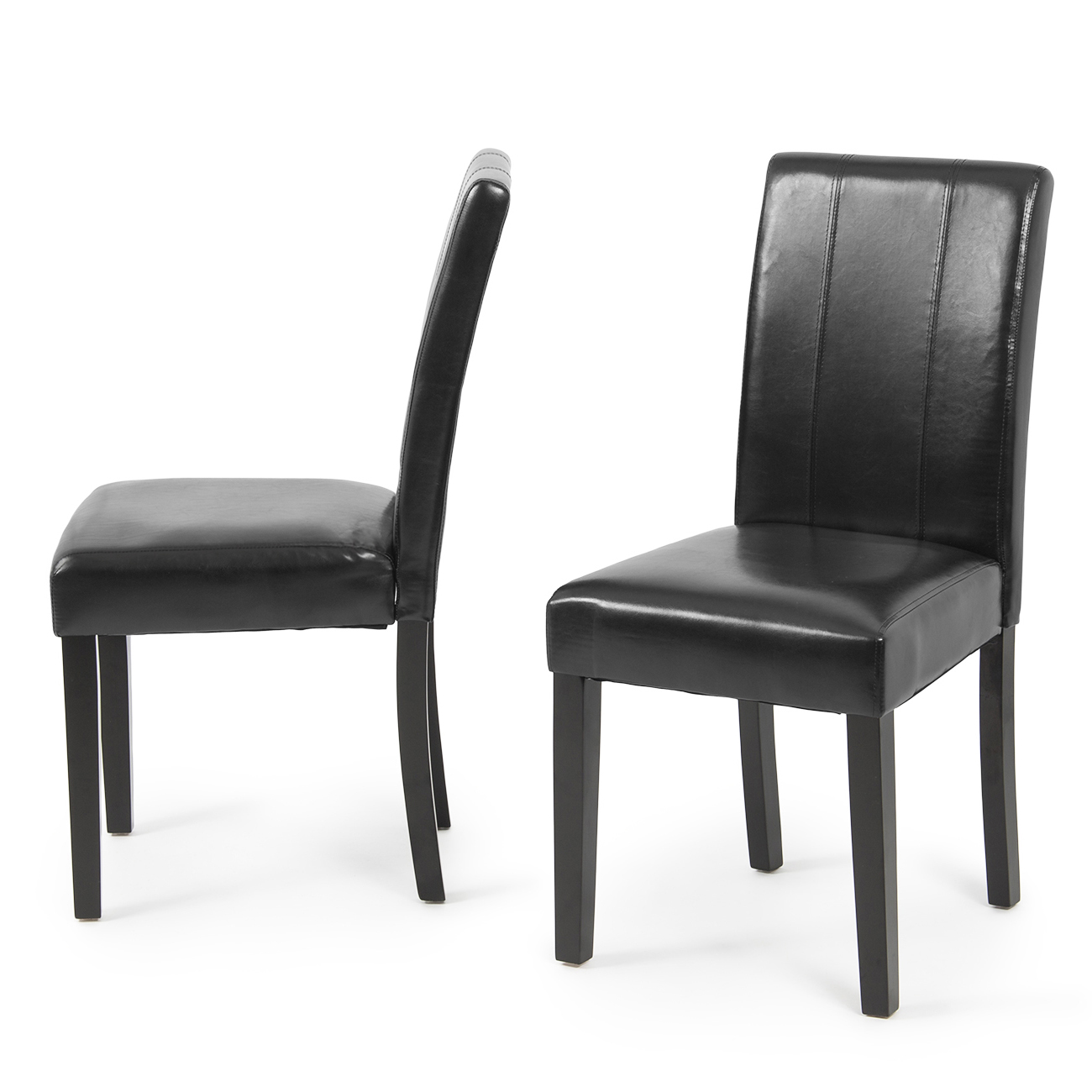 Set of 2 Elegant Modern Design Leather Parsons Dining