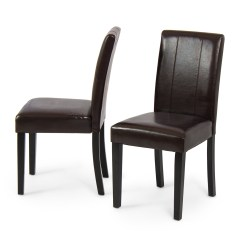 Contemporary Leather Dining Chairs Room For Cheap Set Of 2 Elegant Modern Design Parsons
