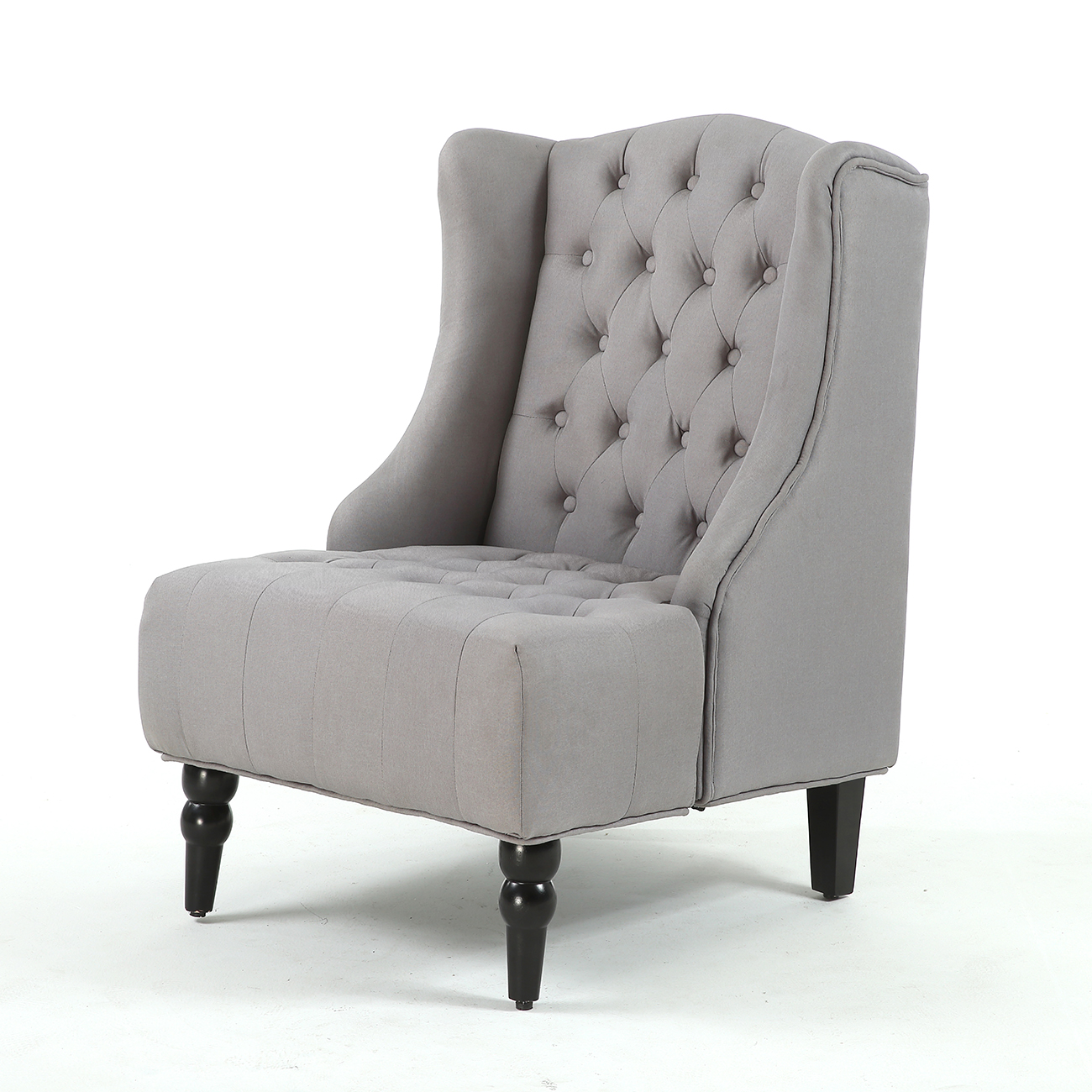 Accent Chairs Modern New Modern Wingback Accent Chair Diamond Tufted Linen