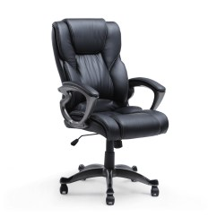 Pu Leather Office Chair Patio Swivel Rocker High Back Executive Ergonomic Desk