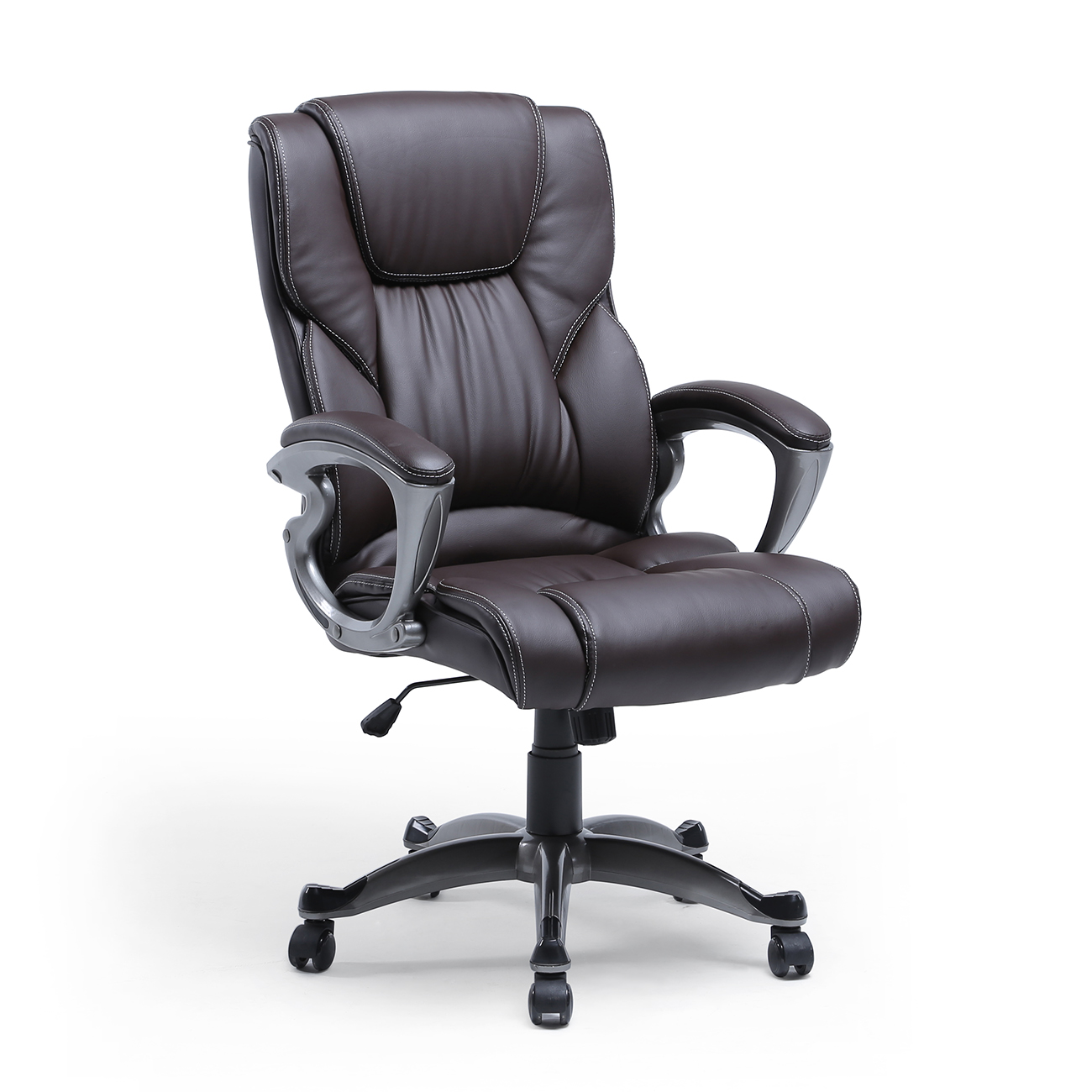 Black Desk Chair High Back Pu Leather Executive Ergonomic Office Chair Desk