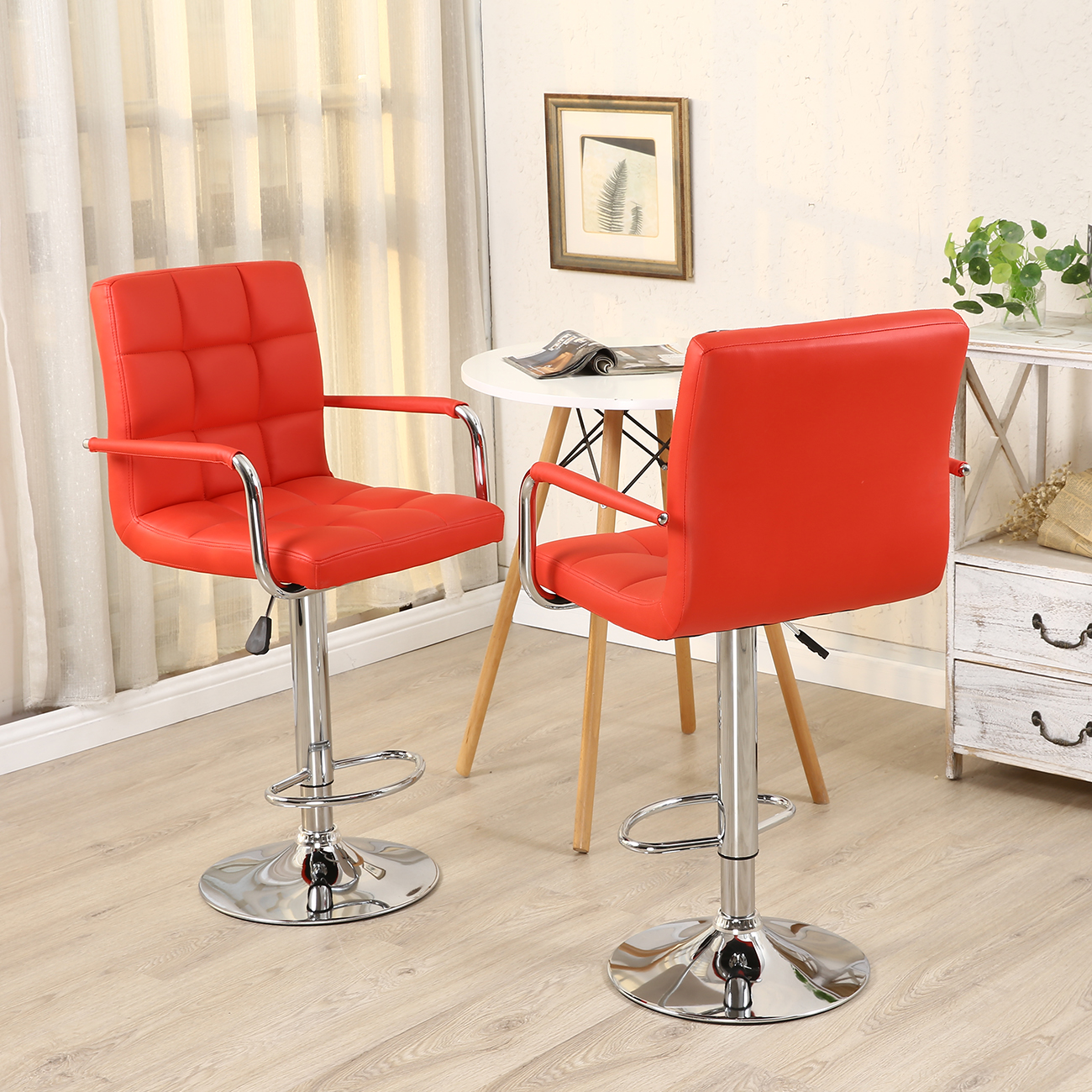 leather pub chair table rentals and chairs 2 bar stools modern hydraulic swivel pair
