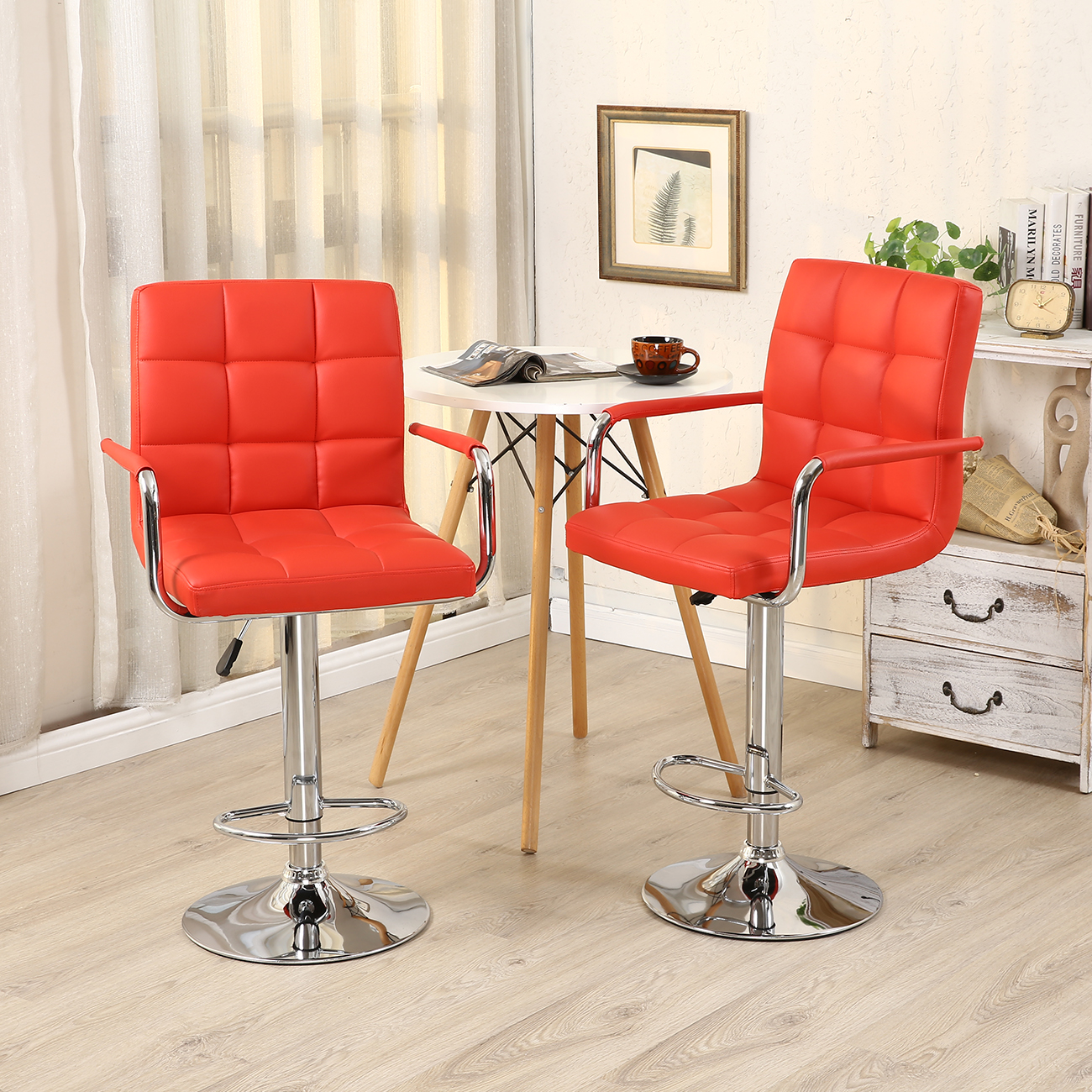 leather pub chair king and queen throne chairs for rent 2 bar stools modern hydraulic swivel pair
