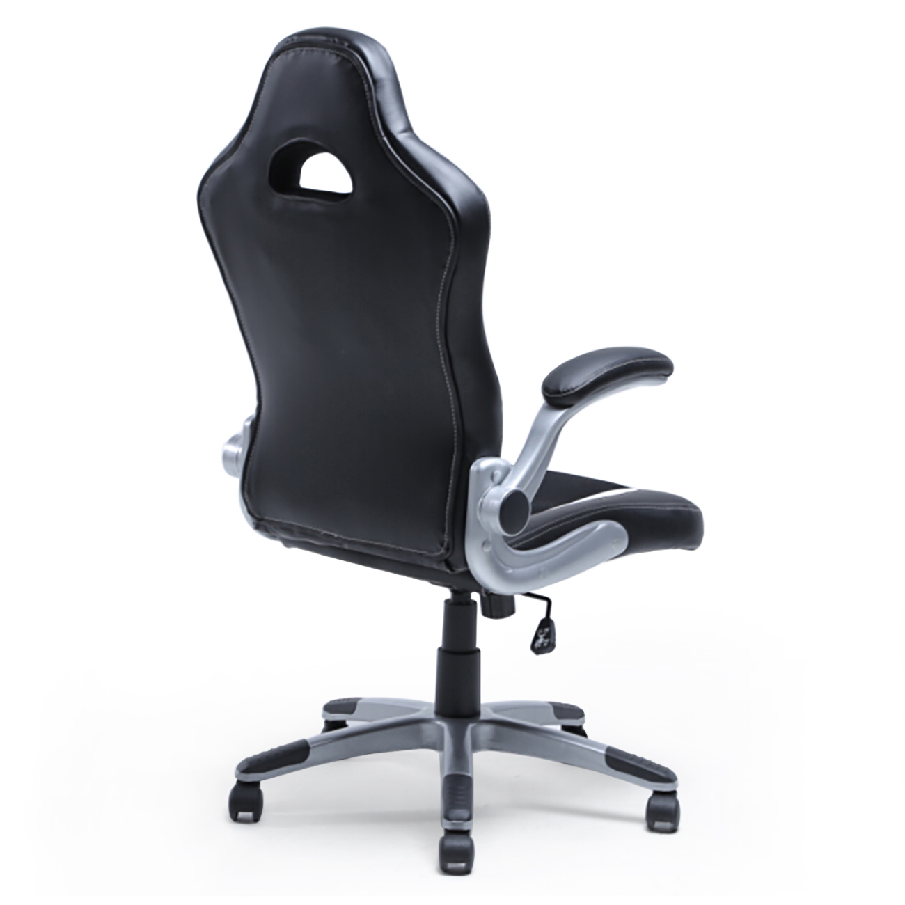 office chair armrest free barber ergonomic computer pu leather desk race car