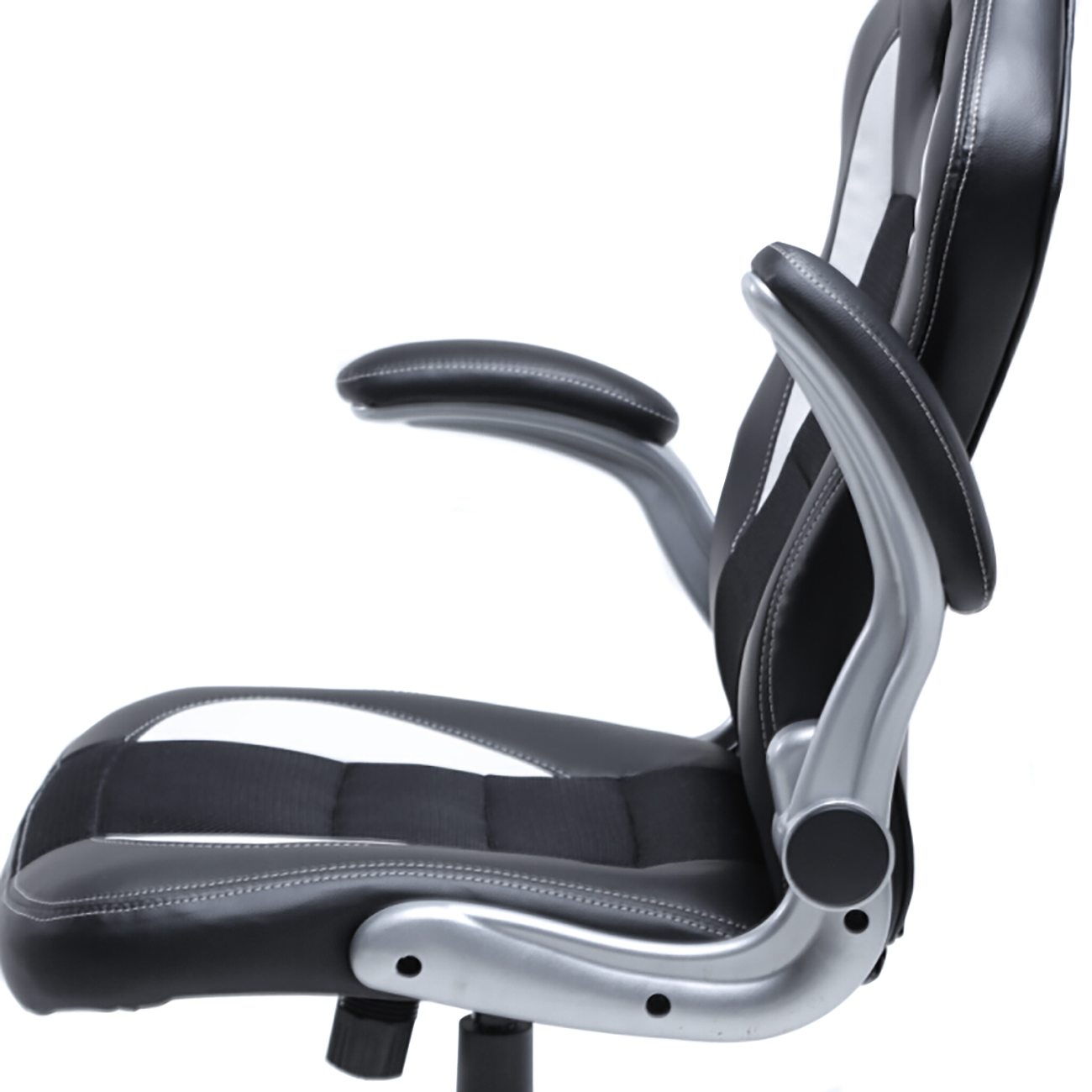 office chair armrest gaming for short person ergonomic computer pu leather desk race car