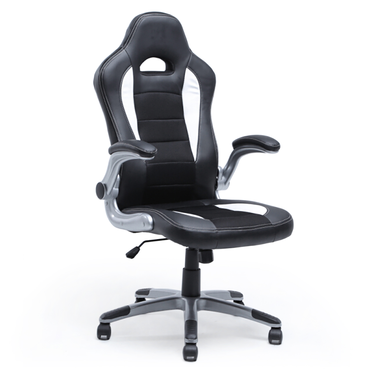 leather bucket chair revolving small office ergonomic computer pu desk race car