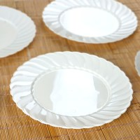"Hard Plastic 10"" ROUND DINNER PLATES Party Wedding ..."