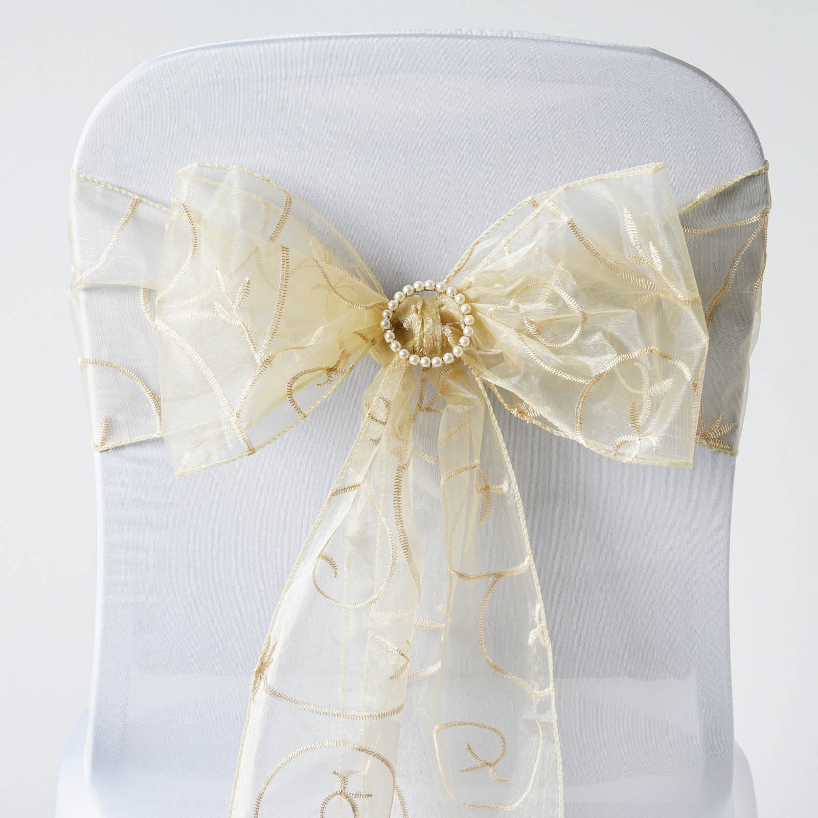 cheap chair covers and sashes beach umbrella silhouette embroidered bows ties wedding reception