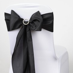 Polyester Chair Sashes Wholesale Black Wicker Rocking Chairs Bows Ties Wedding Reception