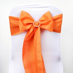 Bow Ties For Chairs Wedding Chair Covers Orlando Polyester Sashes Bows Reception