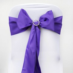 Polyester Chair Sashes Wholesale Crosley Griffith Metal Bows Ties Wedding Reception