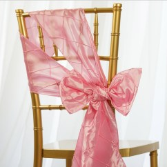 Chair Covers With Pink Bows How To Recover Dining Room Chairs Pintuck Sashes Ties Banquet Wedding Reception