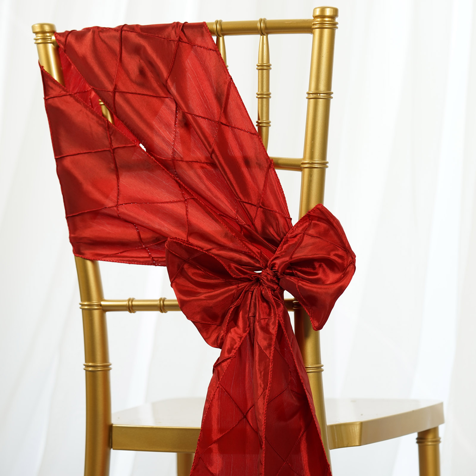 Red Chair Sashes Pintuck Chair Sashes Bows Ties Banquet Wedding Reception