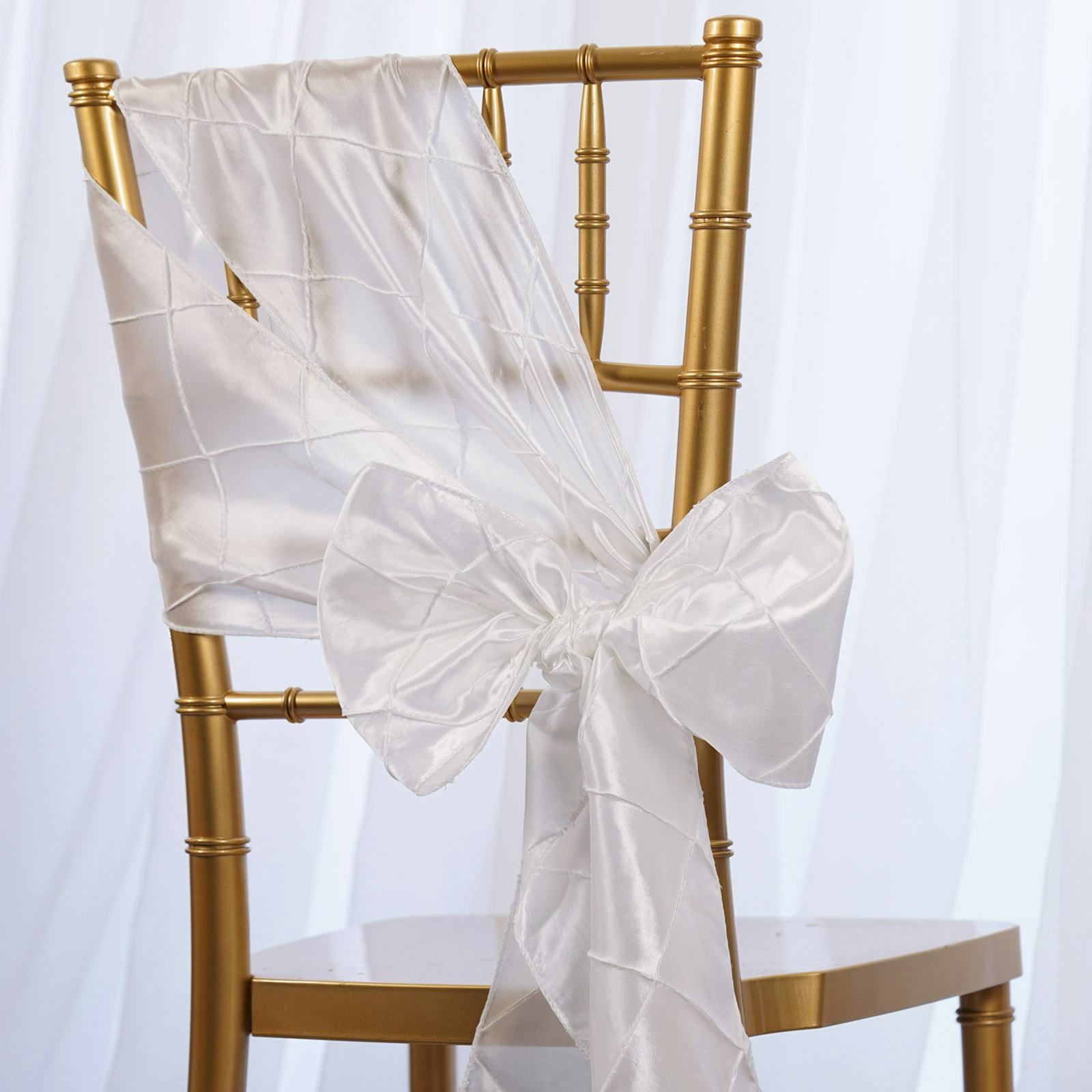 wedding chair sash best after back surgery pintuck sashes bows ties banquet reception