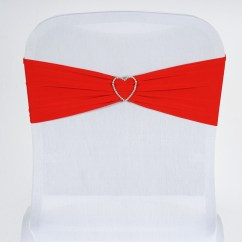 Red Spandex Chair Sashes Extra Large Anti Gravity With Side Table Bows Ties Wedding Reception