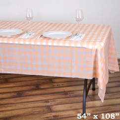 Disposable Plastic Chair Covers For Parties Gold Coast 54x108 Inch Checkered Table Cover