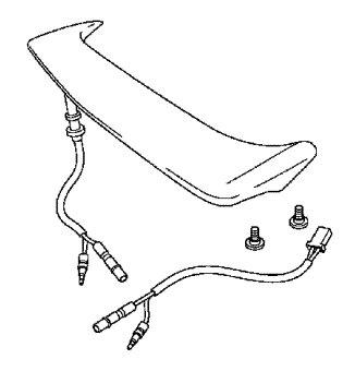 Honda Goldwing Rear Spoiler w LED Brake Light GL1800