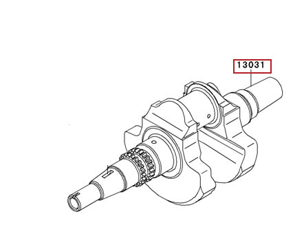 KAWASAKI CRANKSHAFT ASSY 02-13 PRAIRIE 650 4X4 BRUTE FORCE