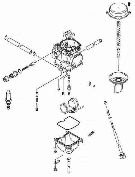 Kawasaki OEM Carburetor Assembly 2003-2005 Prairie 360