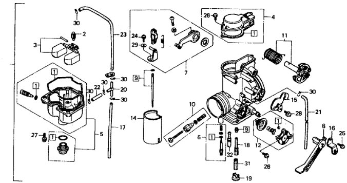 HONDA CARBURETOR ASSEMBLY 1991-2000 XR600R 91-00 XR 600R