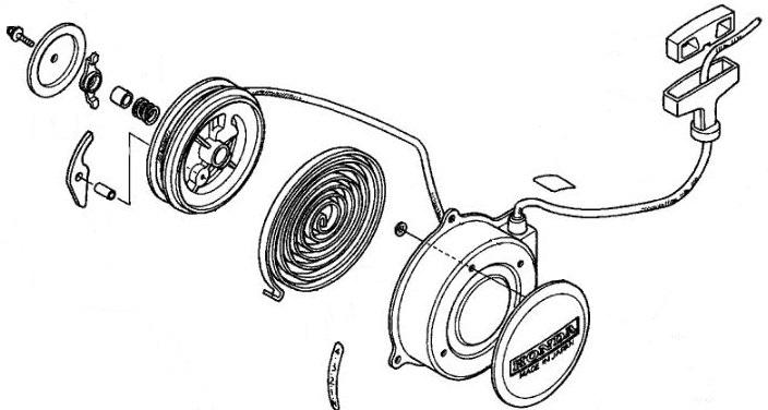 Honda OEM Recoil Pull Starter 1993-2005 TRX90 SPORTRAX
