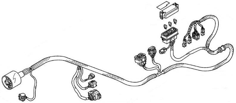 Honda Wire Harness ARX1200N3 ARX1200T3 ARX1200T3D AQUATRAX