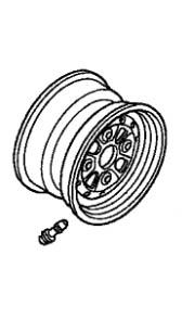 HONDA FRONT WHEEL SUB ASSY 07-16 TRX250TM RECON 250TE