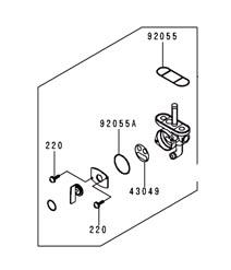 FUEL PETCOCK 92-98 KX125 1992-1998 KX250 KX 125 250 FUEL