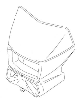 SUZUKI WHITE HEADLIGHT COVER 05-17 DR-Z400S SM DR200S