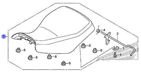 HONDA OEM COMPLETE SEAT ASSEMBLY NH1L 07-17 TRX250TE TM