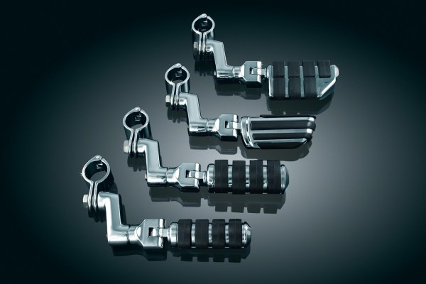 Kuryakyn Chrome Dually Offset Highway Pegs 1-1 4