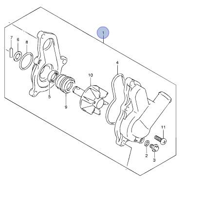Suzuki OEM WATER PUMP 06-11 LT-R450 QUADRACER 450 LTR450
