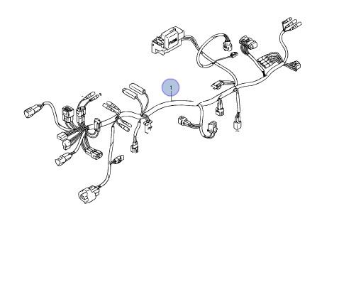 Suzuki OEM MAIN WIRING HARNESS 04-07 LT-A400 EIGER 400 2X4