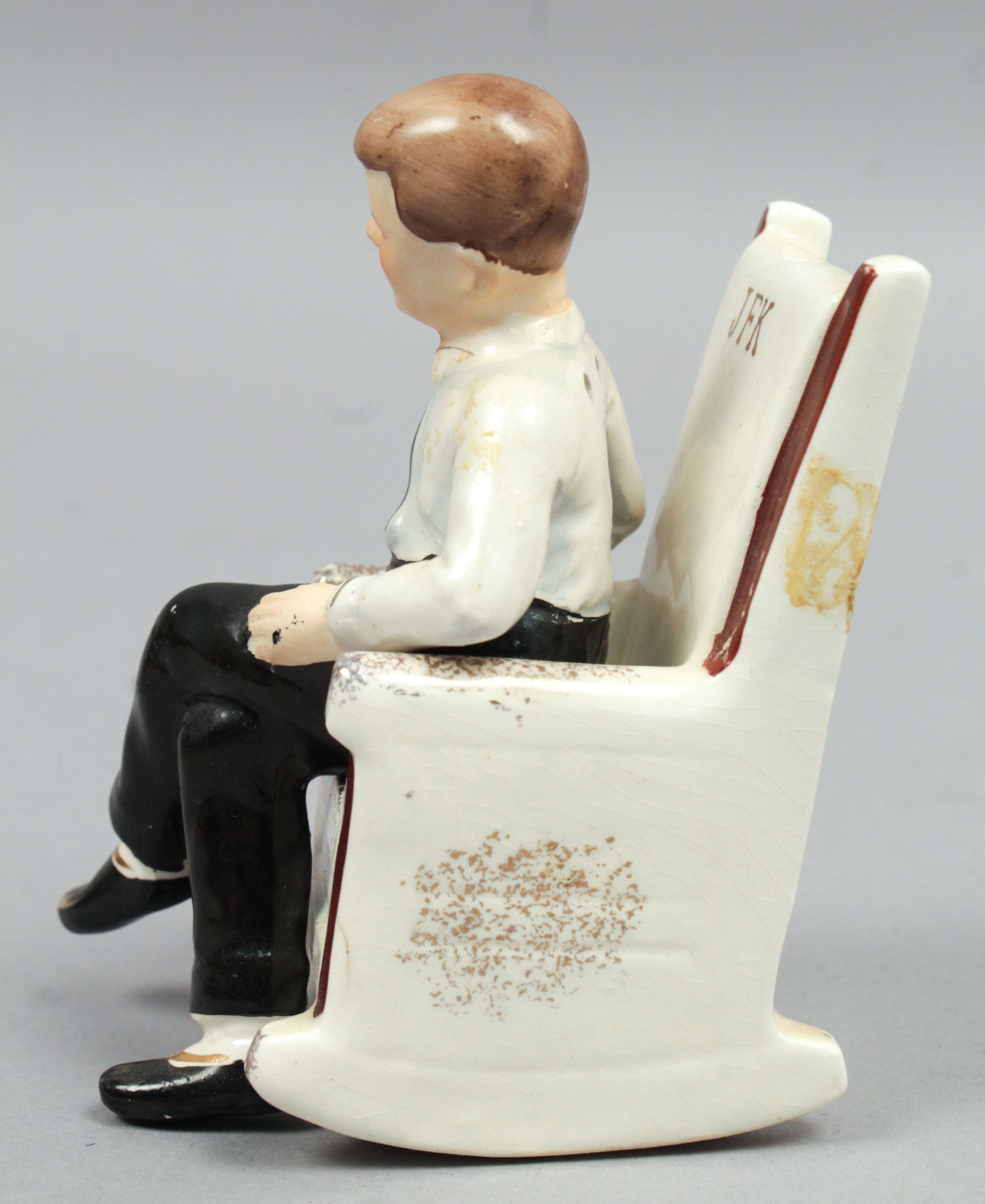 kennedy rocking chair grey chevron vintage 1962 japanese jfk president in