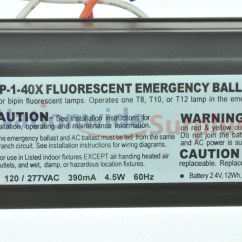 277v Wiring Diagram How To Understand Electrical Diagrams Cooper Lighting Fbp-1-40x Fluorescent Emergency Ballast 60hz | Ebay