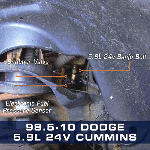 small resolution of 5 9l 24v cummins fuel pressure banjo bolt adapter
