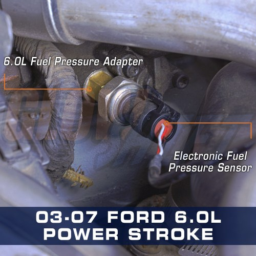 small resolution of ford 6 0l power stroke diesel fuel pressure adapter