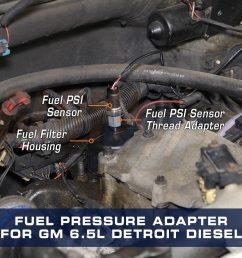 fuel pressure thread adapter for gm 6 5l turbo diesel [ 1000 x 1000 Pixel ]
