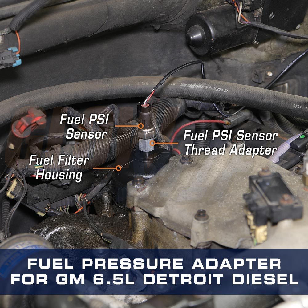 medium resolution of fuel pressure thread adapter for gm 6 5l turbo diesel