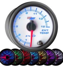 details about 52mm glowshift white 7 color 1500 f diesel pyrometer egt gauge kit for cummins [ 1500 x 1500 Pixel ]