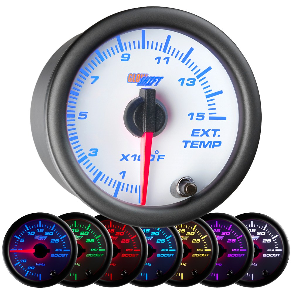 medium resolution of details about 52mm glowshift white 7 color 1500 f diesel pyrometer egt gauge kit for cummins