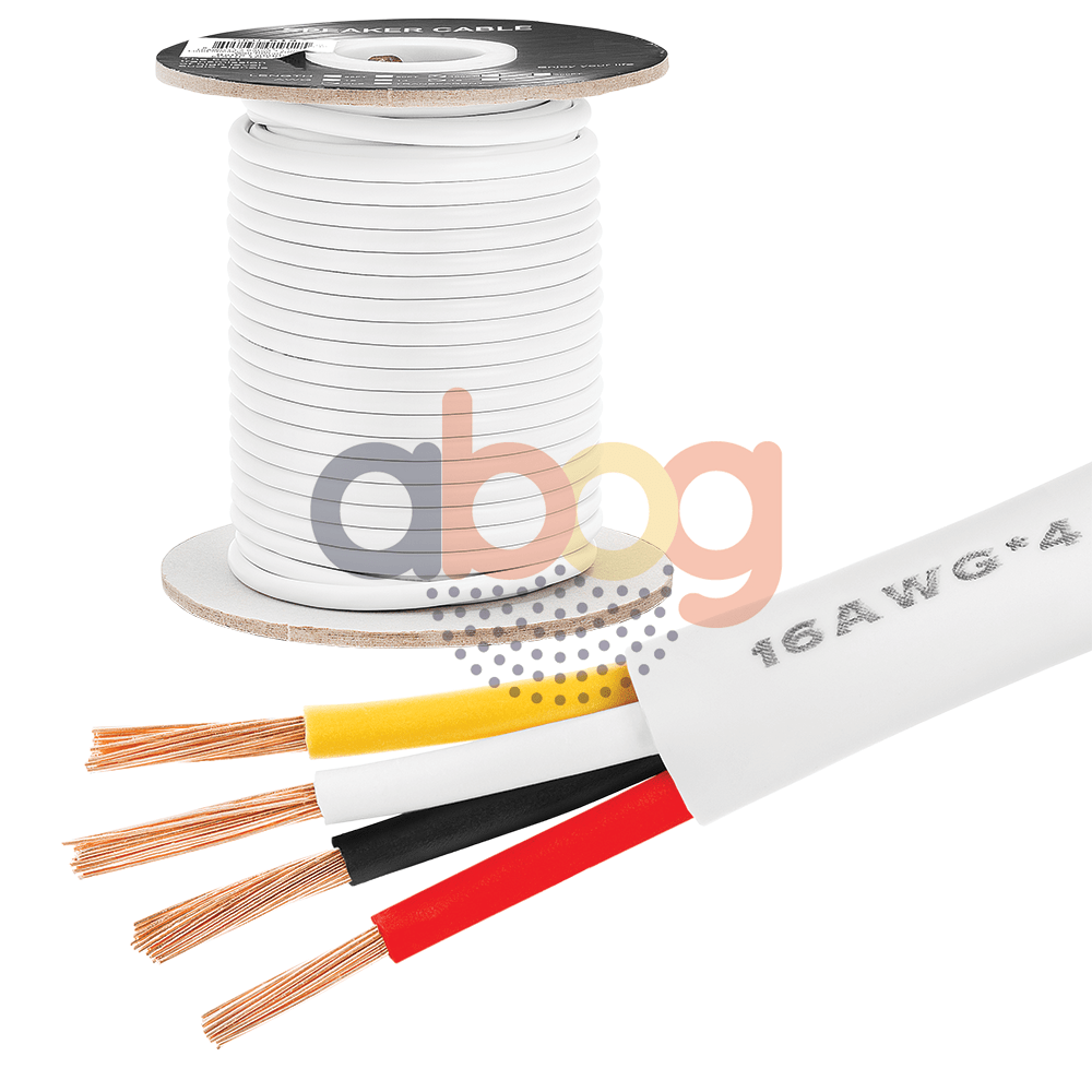 medium resolution of details about 100 ft feet true 16 ga gauge awg speaker wire cable car home audio 4 conductor
