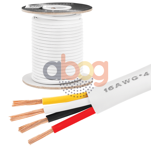 small resolution of details about 100 ft feet true 16 ga gauge awg speaker wire cable car home audio 4 conductor