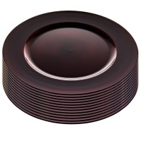 12 Pack Bulk Set Round 13 Inch Plastic Charger Plates ...