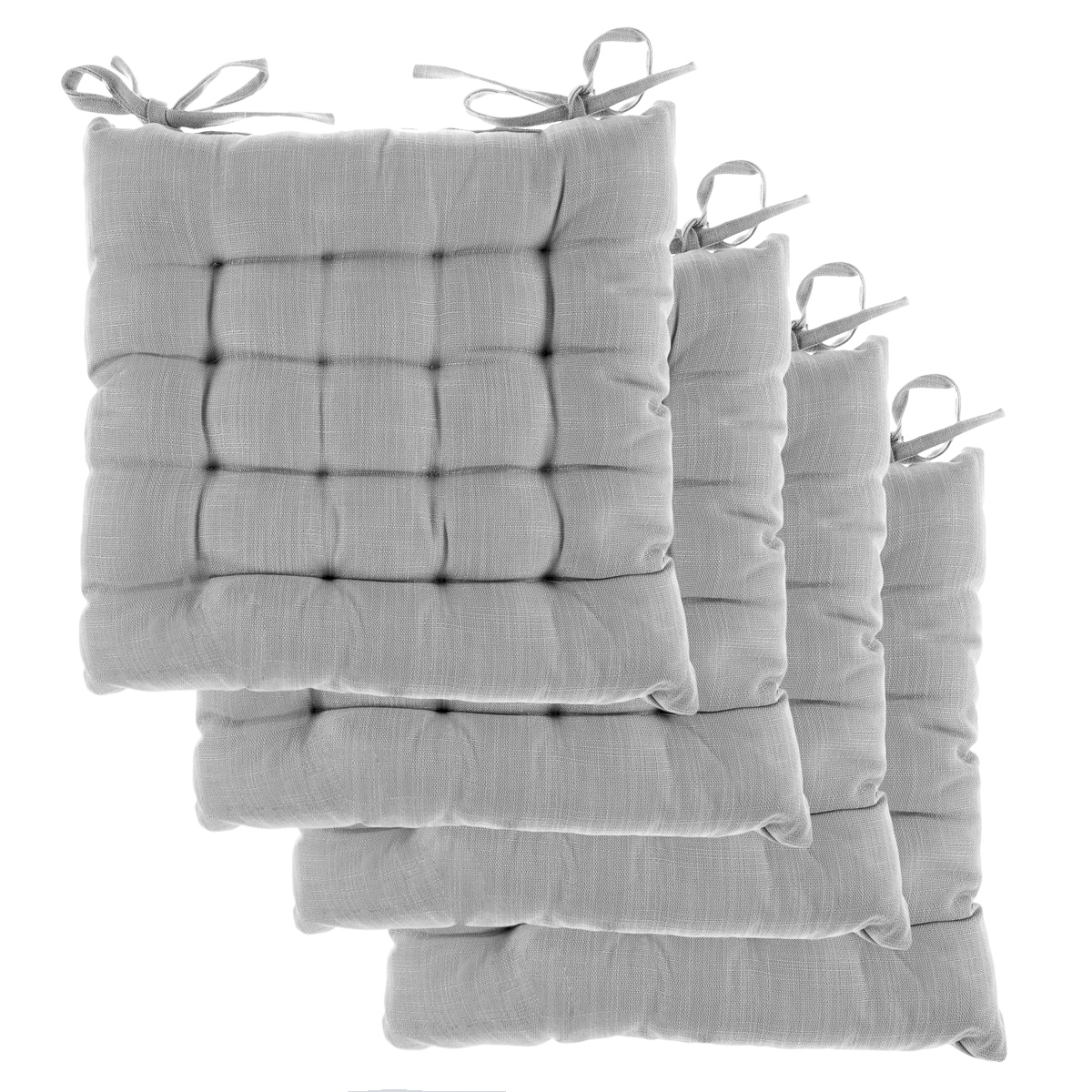 4pk Dream Home Chair Pads Square Tufted Cushion Seat