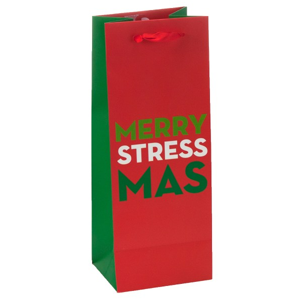 6 Holiday Wine Gift Bags Merry Christmas Bulk With Handles
